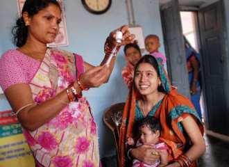 Thanks to the Government of Odisha's commitment and support from the UK, mums-to-be and new mums can now get advice and support from day one in every village. Support now starts well before a baby's due date, and continues until their first birthday. Community health worker, Rebati, gives babies like Adilya, polio and other life saving vaccinations for at least the first year of their lives. Britain is  working with the Government of Odisha, one of India's poorest states, and UNICEF to save the lives of thousands of mums and babies., Babies born in the poorer states of India – a country where more people live in poverty than the whole of Africa – now have a better chance of surviving than ever before.   Thanks to the Government of Odisha's commitment and support from the UK, mums-to-be and new mums can get advice and support from day one in every village.   Vital ante and post-natal care that helps mums bring their babies into the world safe and well.  See how community health workers, nurses, soap opera stars and granny self help groups are together helping save the lives of thousands of babies in our gallery.  UPDATE, June 2012: In 2011-12, 150,000 children like Baby Sethy have been delivered safely in India with the help of skilled birth attendants thanks to support from Britain. And across the world's poorest countries, UK aid has made sure half a million mums had the help of skilled doctors and nurses to have their babies in the last two years.  ------------------------------  The Government of Odisha is working with the UK Government to improve health services, support community health workers and increase take up from families in every village - helping to save the lives of thousands of mums and babies.   Britain is supporting the governments of three of India's poorer states (Odisha, Bihar and Madhya Pradesh) and UNICEF to bring healthcare to everyone, especially the poorest and most disadvantaged.   All pictures © Pippa Ranger / Department for I